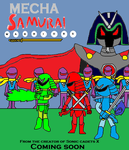 Mecha Samurai warriors poster by scifiguy9000