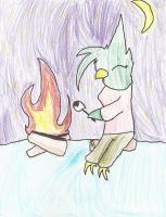Anthro Challenge: Campfire and Ice by deviantkitties