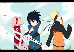 Team 7  -- Wind, Lightning and Strength -- by Reo-chii