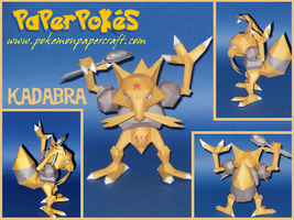 Kadabra Papercraft by Skeleman