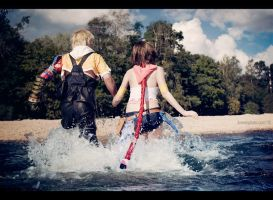 Towards new story - Final Fantasy X-2 cosplay by Aoki-Lifestream