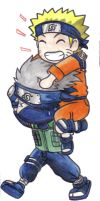 Chibi Naruto piggyback ride by DemonAnime-Bloodlust