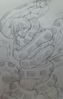 kaa squeeze  seras from hellsing by kaitakuan