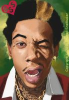 Wiz Khalifa Portrait by JellyPhotography2000