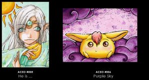 ACEO 005 and 006 by yumkeks