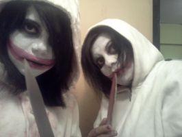 Jeff the killer cosplay (with  my mom) by bloody-kazu
