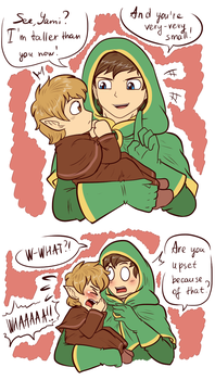 .: LoY: I'm taller than you now! - comic :. by AquaGD