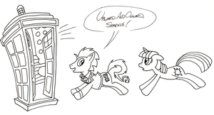 The Doctor and Twilight Sketch by FractiousLemon