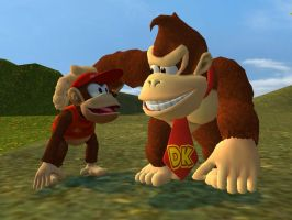 Donkey Kong and Diddy Kong by SuperSmashBrosGmod