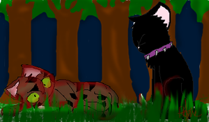 Scourge and Tigerclaw scene by FlameFiggleBottom