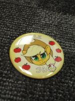 ( MLP ) Custom Applejack Pin from Animate!Miami! by KrazyKari