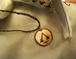 NEW Assasin's coin-necklace by Destinyfall