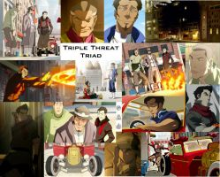 Triple Threat Triad Collage by JackieStarSister