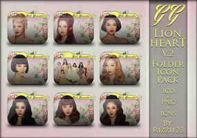 SNSD Lion Heart Version 2 Folder Icon Pack by Rizzie23