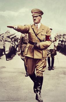Adolf Hitler (in colour) from my tumblr. by Julia-Koterias