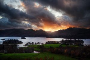 Derwent Water Sunset by Mohain