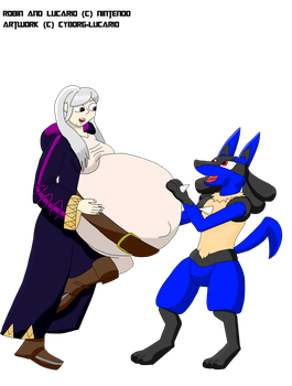 Robin And Lucario by Cyborg-Lucario
