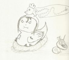 Cucco is an upset chicken by pokemon-eversole