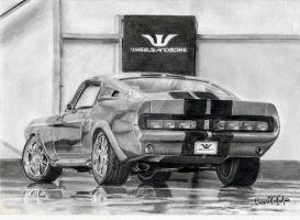 Mustang Ford Shelby GT 500 by dessiner1