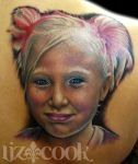Color Portrait Tattoo by LizCookTattoo