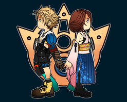 tidus and yuna by ant1gone