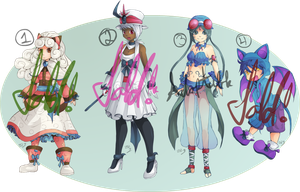 Gijinka Pokemon Adoptables-CLOSED- by Lady-of-Link