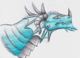 Dragon from USTREAM tut by witchiamwill
