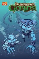Pathfinder Goblins #2 cover by Ross-A-Campbell