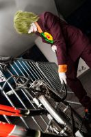Joker steals...a bike...? by Imitaga