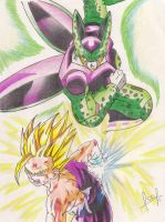 GOHAN vs. CELL by J-S-S-C
