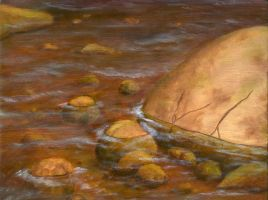 River Painting by brandonolterman