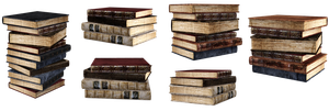 UNRESTRICTED - Stacks of books renders by frozenstocks