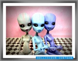 Custom Alien Monster High Dolls by DarkEyedDeviant
