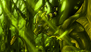 Green Sight by Dark-Spine-Dragon