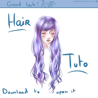 Hair Tutorial On Paint Tool SAI by DollNeko