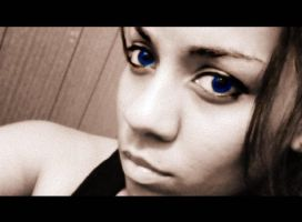 Behind These Big Blue Eyes.. by DorkaliciousRisa