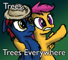 Trees, trees everywhere by MetalPonyFan