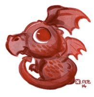 Lil' Welsh Dragon by StressedJenny