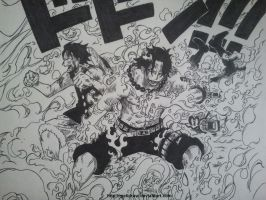 Ace et Luffy by Melidraw