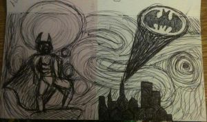 Batman Sketch by robynrockin