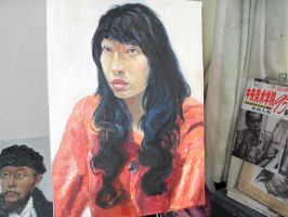 3 hours oil painting 14 by curryQ