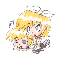 Rin and Len by Lewaluvr997