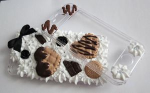 Chocolate and cookie decoden iphone 4 case by Charly-chan