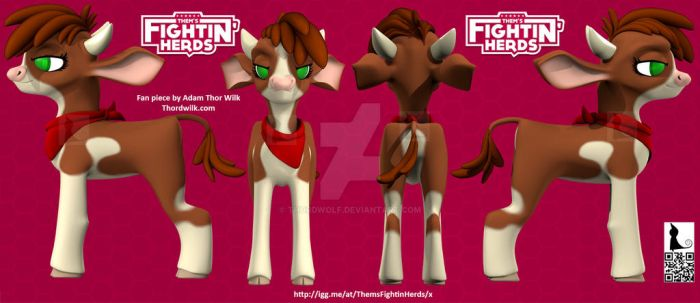 Them's Fightin Herds 3D attempt of Arizona by Thordwolf