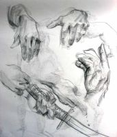 studies of hands by yamslayer