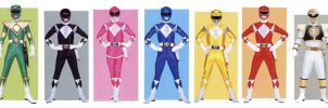 Mighty Morphin' Power Rangers by planeteer1988