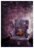 Teddy bear in the magic room by Ealiaine