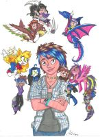 Me and My Personality Dolls (Again!) by InvaderSonicMx