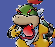Bowser Jr., the pretty little girl by MegYosh