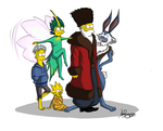 crossover: simpsons/ROTG by Moonwayfarer